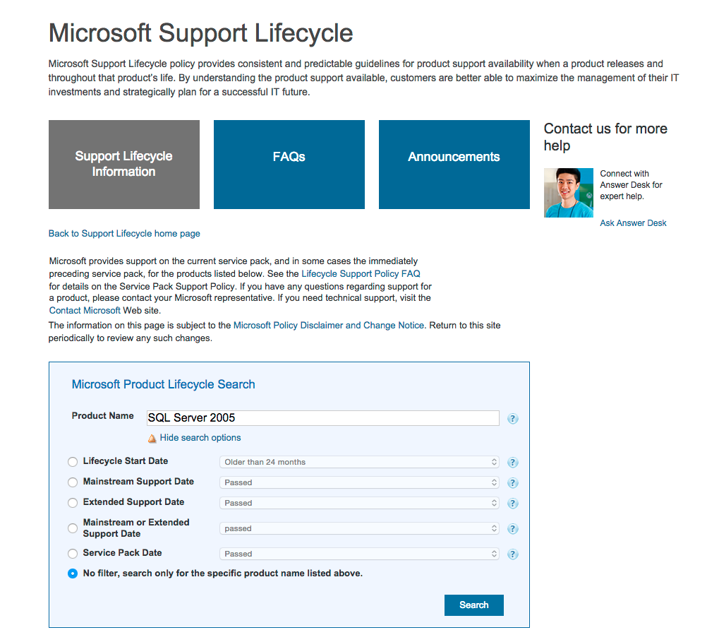 SupportLifeCycle